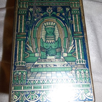 Rare Fry's 1878  cocoa tin Egyptian motif - Advertising