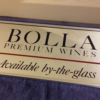 BOLLA WINES mirror - Advertising