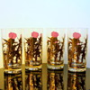Gregory Duncan Gold Leaf & Purple Thistle Barware Glasses