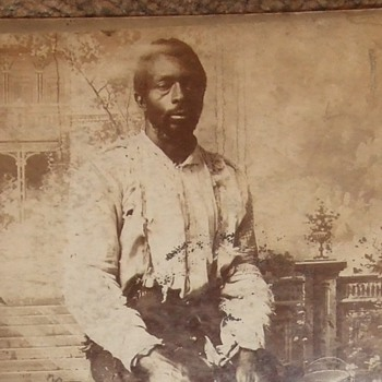 African American cabinet card