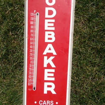 Studebaker thermometer - Advertising