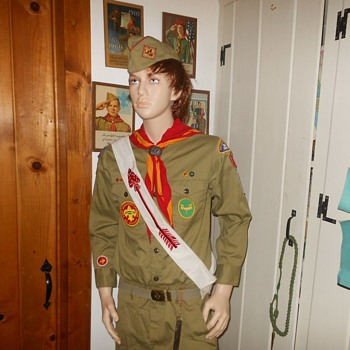 Saturday Evening Scout Post Order of the Arrow Sash 1950s - 1960s Plus Free Bonus - Medals Pins and Badges