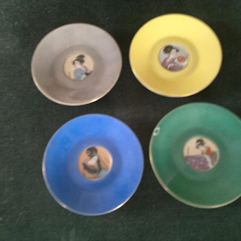 Japanese ? signed cups n plates