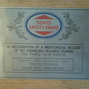 Sohio Safety Award