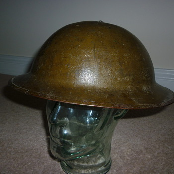 Standard British WW1 steel helmet