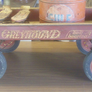 Old Hamilton Greyhound Wagon  - Sporting Goods