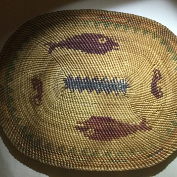 Woven Pre 1940 Native American mat. - Folk Art