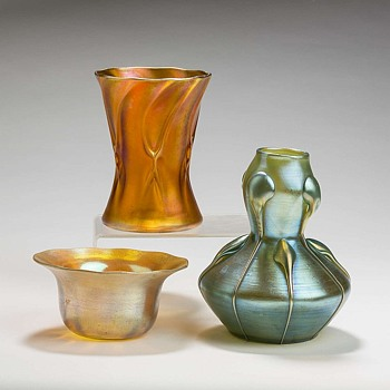loetz vases - Art Glass