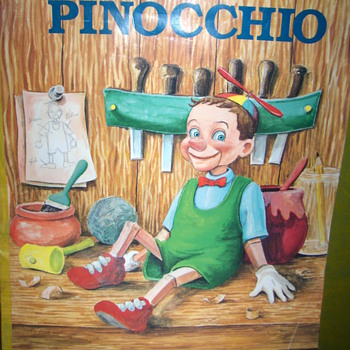 Pinocchio promotional giant color book - Books