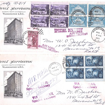 Covers Advertising Hotels - Stamps