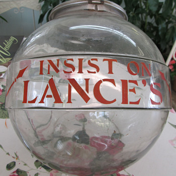 LANCE CRACKER JAR, HAND STENCILED, VERY EARLY - Advertising