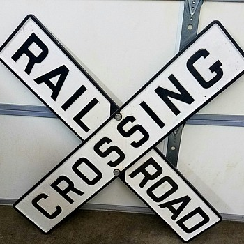Cast Iron Railroad Crossing Sign | Collectors Weekly