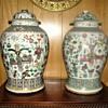 Two Chinese porcelain 'Simiào guànzi de gàizi'.