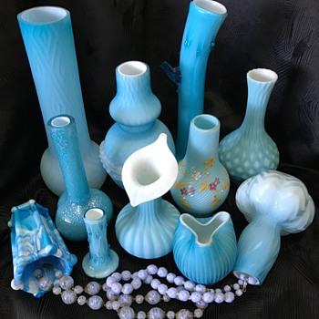 Bower bird blues - Art Glass