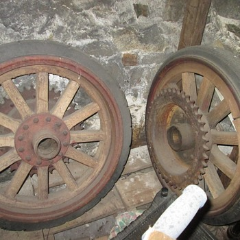 early 1900's firetruck wheels - Firefighting