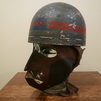 Scarce British WWII Dispatch Riders Face Mask