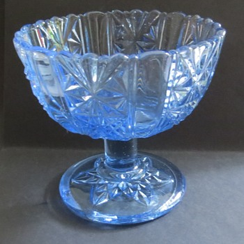 Pale Blue Glass Compot / Candy dish