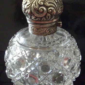 Sterling Silver topped Perfume/scent bottles. - Bottles