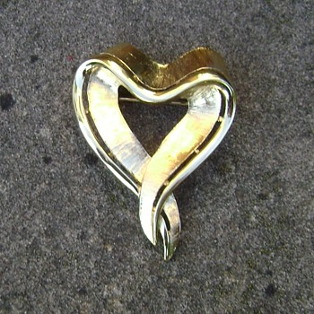 Trifari Heart Brooch - Costume Jewelry