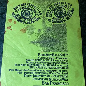 Flyers for the Fillmore, Rock Art Fest, The Who, Eric Clapton... - Posters and Prints