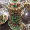 Nippon Hand Painted Roses Chocolate Pot Set