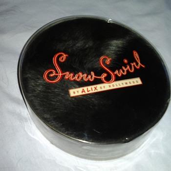 1960 Pill Box Hats ~ Snow Swirl Fur & Black Fabric with Hat Box
