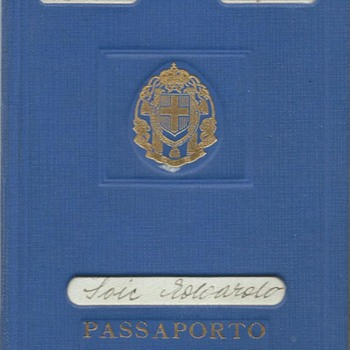 1942 Italian temporary passport & RSI extension