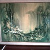 """Waterfront"" 1968 by Frans Van Lamsweerde / Print on Canvas 33"" x 41"" / Oil ??"
