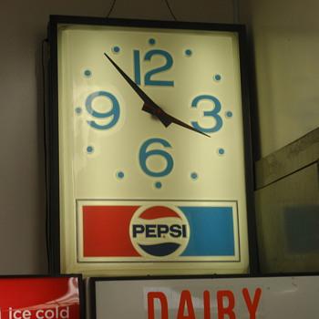 Pepsi sign from Wild West City circa 1970s - Clocks