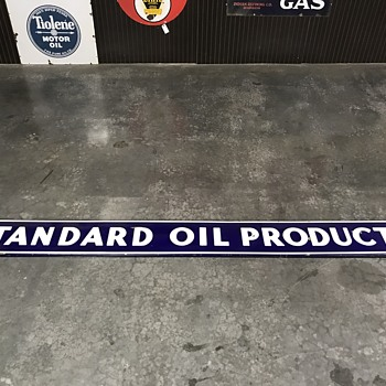 Standard Oil  bulk plant sign 9 ft  - Petroliana