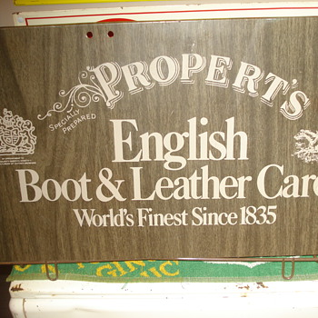 Propert's Leathercare Advertising Display