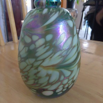 Marble looking pottery - Art Glass