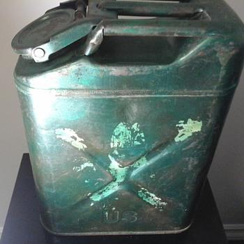 Vintage U.S. Army Metal Gas Can