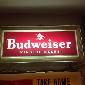 Budweiser light from the 50's - Breweriana
