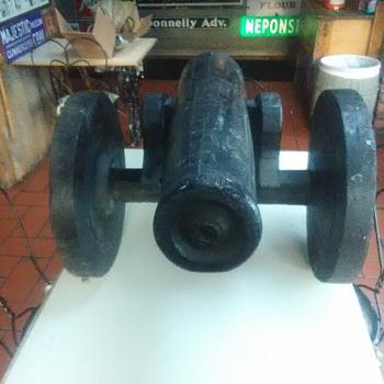 Wooden Cannon Hand Made by C.M Thomas Edgartown Mass. Boatbuilder??? - Folk Art
