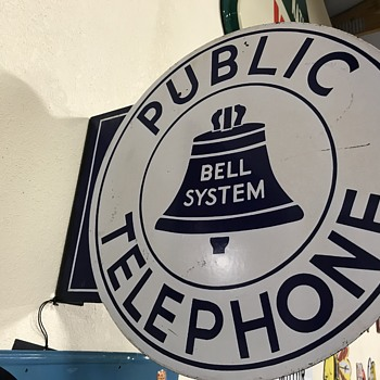Bell  public telephone flange sign  - Telephones