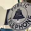 Bell  public telephone flange sign