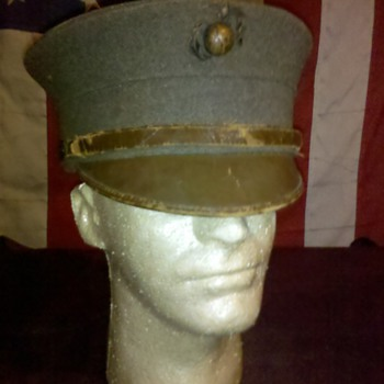 pre WWI USMC Marine Corps enlisted bell crown hats - Military and Wartime