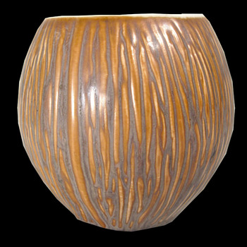 Pottery 'Coconut' Shaped Bowl or Vase - Pottery