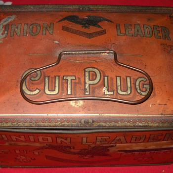 Union Leader Cut Plug tin - Tobacciana