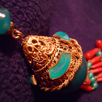 Tibetan necklace from who knows when.... - Fine Jewelry