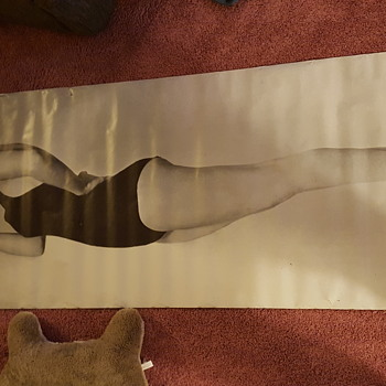 Six foot Marilyn Monroe poster found in garage