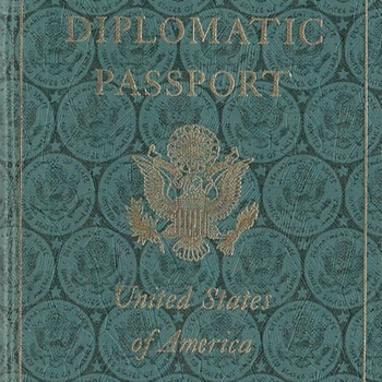 1957 US diplomatic passport