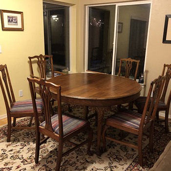S.K. Pierce & Son Dining Set - two leaves, one captains chair and 5 side chairs  - Furniture