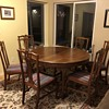 S.K. Pierce & Son Dining Set - two leaves, one captains chair and 5 side chairs