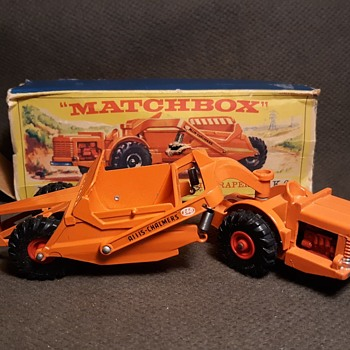 Much More Major Mover Matchbox Monday King Size K-6 Allis-Chalmers Earth Scraper 1963-1964 - Model Cars