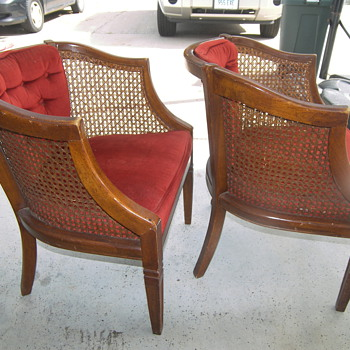 Arm chair with cane - Furniture