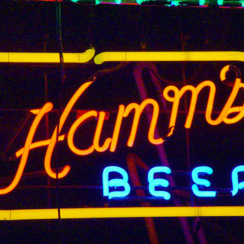 Hamms neon sign - Breweriana