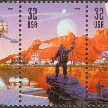 1998 - Space Discovery Postage Stamps (US)