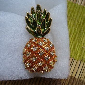 Fruits and Birds Pins - Costume Jewelry